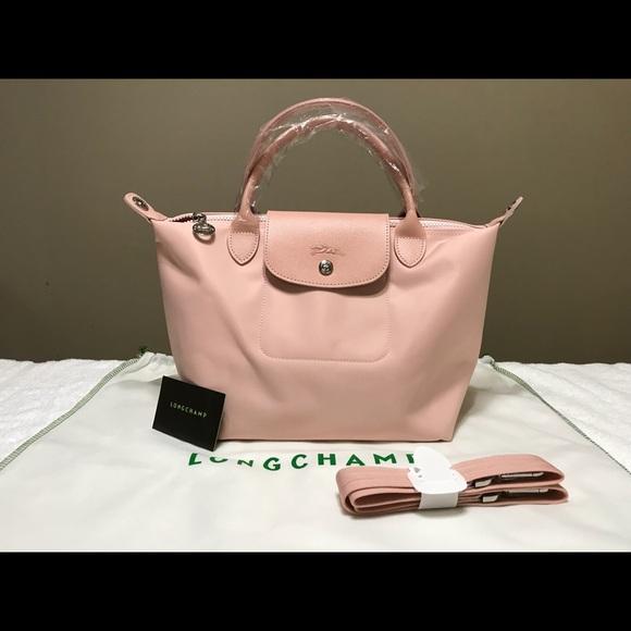 Longchamp Handbags - Longchamp Neo Nylon Small Tote Baby Pink.New! 091f819d5b